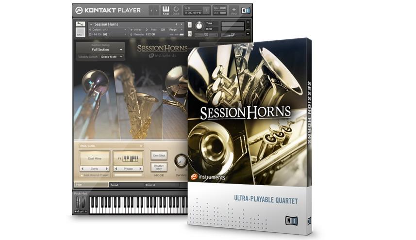 Prodotto in collaborazione con e-Instruments, Session Horns,  include ...